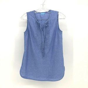J.McLaughlin Top Women S Sleeveless Cotton Linen T